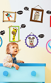 Eläimet / Piirretty / Muoti Wall Tarrat Lentokone-seinätarrat,PVC 30*40cm(11.8*15.7 inch)