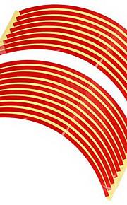 set 10 millimetri macchina rossa cerchione nastro adesivo riflettente striscia decalcomania