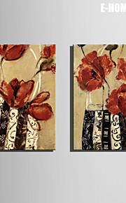 Stilleven / Botanisch Canvas Afdrukken Twee panelen Klaar te hangen,Verticaal