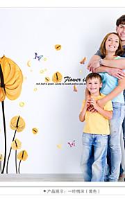 Animais / Botânico / Floral Wall Stickers Autocolantes de Aviões para Parede,pvc 60*90cm