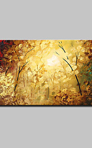 Lager Handmade Colorful Tree Landscape Oil Painting On Canvas Wall Paintings For Living Room Home Decor Whit Frame