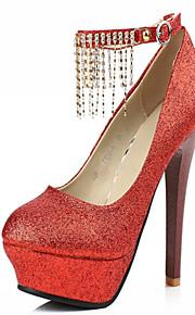 Chaussures Femme-Mariage / Bureau & Travail / Soirée & Evénement-Rouge / Argent / Or-Talon Aiguille-Talons-Talons-Similicuir