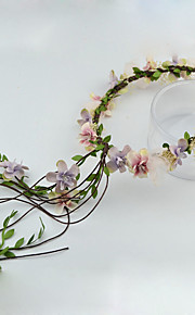 Women's / Flower Girl's Fabric Headpiece-Wedding / Special Occasion / Outdoor Wreaths 1 Piece