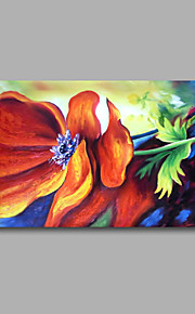 """Stretched (Ready to hang) Hand-Painted Oil Painting 36""""x24"""" Canvas Wall Art Modern Abstract Flowers Red Roses"""