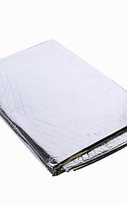 el calor del tono plateado 122cmx99cm protector de alfombra de blindaje de aislamiento para motor de automóvil
