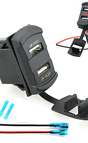 iztoss Dual USB auto-oplader apparaat geleid digitale display voltmeter met draden en isolatie warmte krimpen connectoren