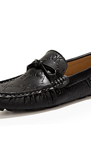 Men's Shoes Nappa Leather Party & Evening / Casual Flats Party & Evening / Casual Wedding Flat Heel Black / Blue/Taupe