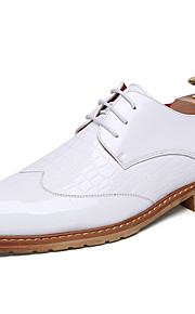Men's Shoes Patent Leather Office & Career / Casual Oxfords Office & Career / Casual Chunky Heel Black / White