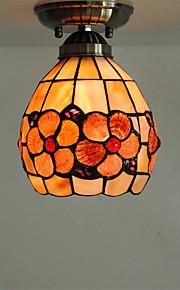 6 inch Retro Tiffany Ceiling Lamp /Shell Shade Flush Mount Living Room Dining Room light Fixture