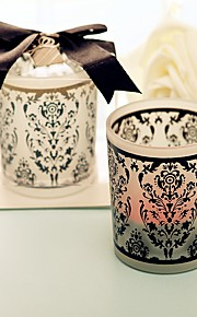 Black And White Glass Candle Holder Wedding Party Decoration