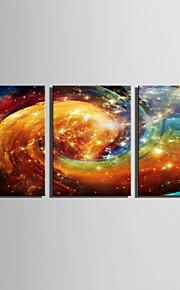 E-HOME® Stretched LED Canvas Print Art  Colorful Clouds LED Flashing Optical Fiber Print Set of 3