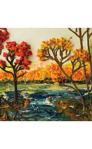 Mural arbres/Feuilles Papier peint Classique Revêtement,Toile Oui