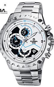 CASIMA Luxury Brand Watches Men's Fashion Sport Quartz Wrist Watch Chronograph Stainless Steel Waterproof 100M #8203-S8