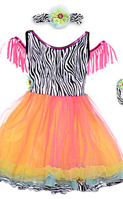 Performance Dresses Children's Performance Spandex / Polyester Pleated 2 Pieces Black