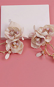 Women's / Flower Girl's Alloy / Fabric Headpiece-Wedding / Special Occasion / Outdoor Flowers / Hair Clip 2 Pieces