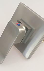 robinet de douche en laiton contemporaine nickel brossé poignée simple mélangeur de bain eau chaude et froide