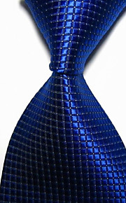 KissTies Men's Solid Checked Microfiber Tie Necktie With Gift Box (10 Colors Available)
