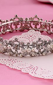 Donne Strass / Lega / Perle false Copricapo-Matrimonio / Occasioni speciali / All'aperto Tiare 1 pezzo