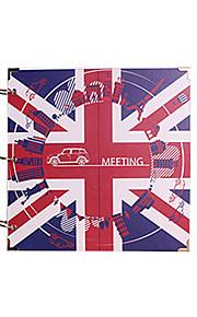 DIY 29 * 29 cm 16inch håndlavet scrapbog fotoalbum 30pcs sort papir - england til familie / baby / kærester / gaver / bryllup