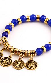 Bohemian National Wind Fashion Personality Gold  Beaded Female Avatar Bracelets