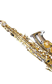 Nickel Body Gold-Bonded Alto Saxophone Regular Brand E Alto Saxophone