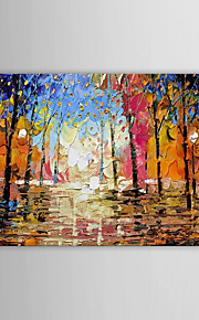 100% Hand Painted Heavy Texture Landscape Forest Abstract Canvas Oil Modern Paintings for Living Room Bedroom Decor