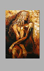 abstrakti nude nainen seinälle bar sisustus käsinmaalattu öljymaalaus valmis roikkua kehyksineen