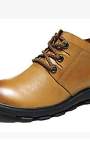 Men's Shoes Nappa Leather Office & Career / Casual Boots Office & Career / Casual Snow Boots Chunky Heel Brown