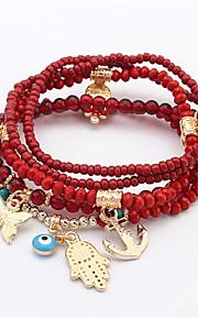 European And American Fashion Beaded Bracelet Buddha'S Heart