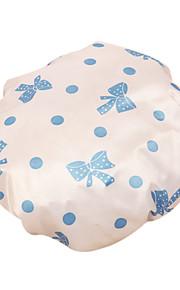 귀여운 만화 방수 샤워 캡 여성 목욕 스파 탄성 모자 모자