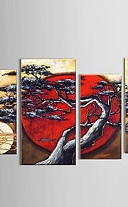 käsinmaalattu abstrakti moon puu keinu maisema öljymaalaus ravintola sisustus venytetty runko