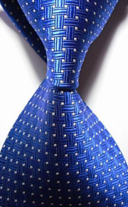 KissTies Men's Crossed Checked Microfiber Tie Necktie With Gift Box (8 Colors Available)