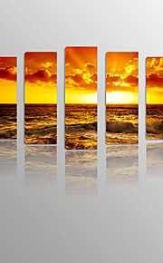 Sunrise in The Cloud on Canvas wood Framed 5 Panels Ready to hang for Living Decor
