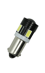 2X White Side Tail Light T4W 5730 6SMD BA9S Projector LED Car Bulb Lamp Interior
