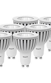 5W GU10 Spot LED MR16 1 COB 400-450 lm Blanc Chaud / Blanc Froid Décorative AC 100-240 V 6 pièces