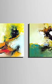 Peint à la main Fantaisie Modern / Style européen,Un Panneau Peinture à l'huile Hang-peint