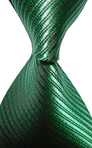 KissTies Men's Striped Microfiber Tie Necktie With Gift Box (12 Colors Available)