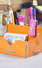 Desktop Storage Box Wooden Pen Box DIY Creative
