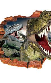 Animales / 3D Pegatinas de pared Calcomanías 3D para Pared,vinyl 19.69inch*27.56inch
