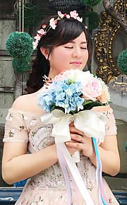 ウェディングブーケ ブーケ 結婚式 ビーズ レース 9.45inch(約24cm)