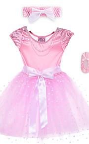 Performance Dresses Children's Performance Spandex / Polyester Bow(s) 2 Pieces Pink