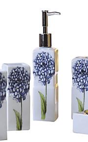 rectángulo azul hortensia baño patrón de cinco piezas traje + Caja