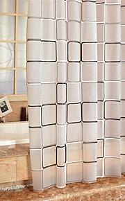 """moderne plaid mønster badeforhæng W71 """"× L71"""" W71 """"× l79"""""""
