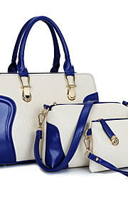 Women PU Formal / Casual / Office & Career / Shopping Tote / Bag Sets Blue / Red / Black