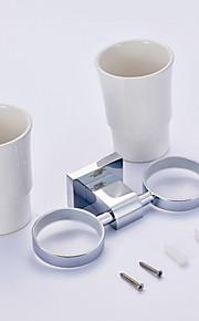 Tandborstskopp / tandborste Cup / Krom / Väggmonterad /30*10*12 /Mässing /Modern /30 10 0.316