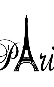 Wall Stickers Wall Decals, Fashion Creative Word Paris PVC Wall Sticker