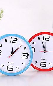 새 단순한 원형의 디지털 시계 벽 알람 시계 (임의의 색상을) 걸어
