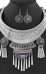 Европейский стиль богемского простой моды металлические колье комплекты серьги