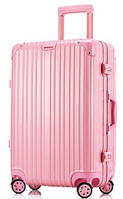 Unisex-Outdoor-Metal-Luggage-White / Pink / Purple / Blue / Gold / Red / Silver / Black
