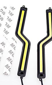2 stuks 2x7W witte kleur licht geleid z styledaytime rennende lichten cob DRL z vorm